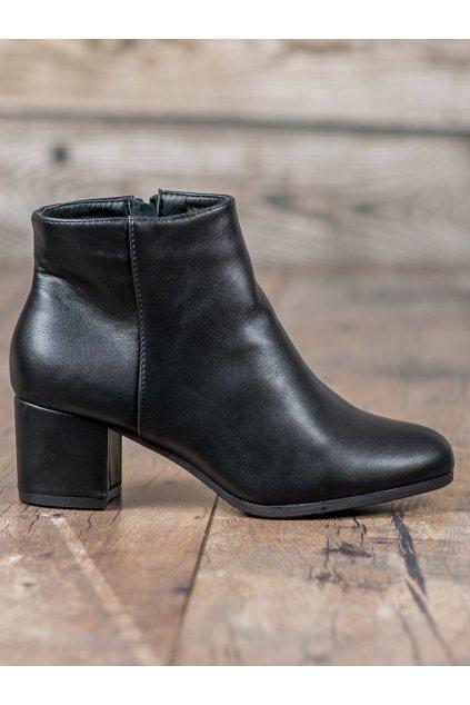 Čierne topánky NJSK WED523NE