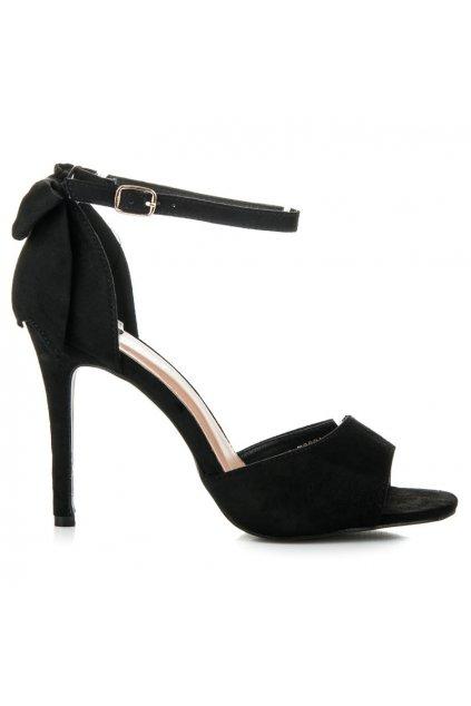 Čierne sandále 100-736B