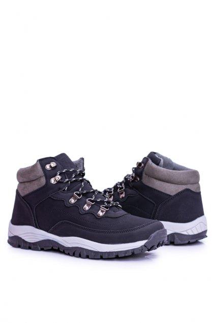 Čierne topánky NJSK M0077 BLK