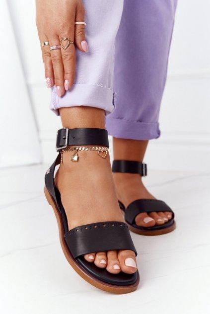 Čierne sandále NJSK HH274720 BLACK