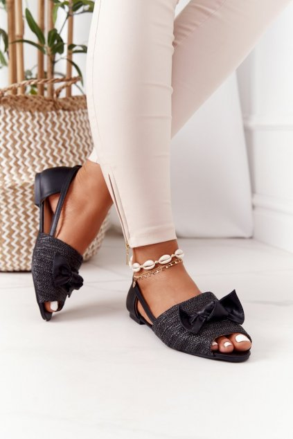 Čierne sandále NJSK 669-50 BLACK