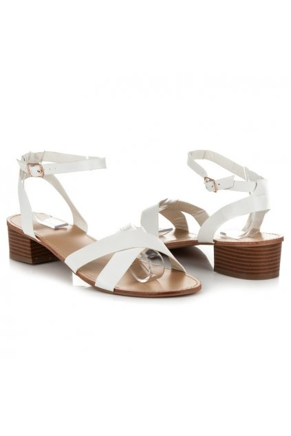 182365 biele damske sandale na nizkom podpatku wl162w big