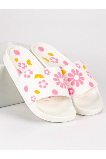 242476 damske biele kvetovane slapky s47 41w big