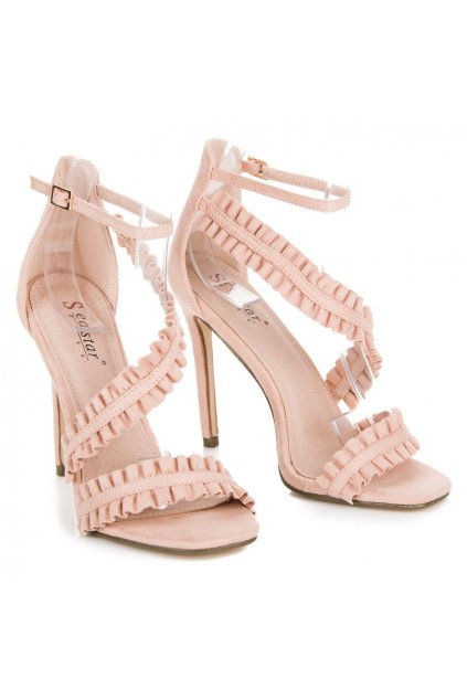 Ružové sandále NJSK LE045P