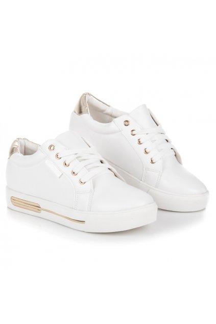 Športové biele topánky na platforme Vices 2160-37W/GO