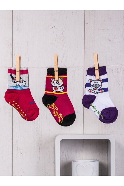 Detské ponožky kód TD-SR-014(3szt) 3ks