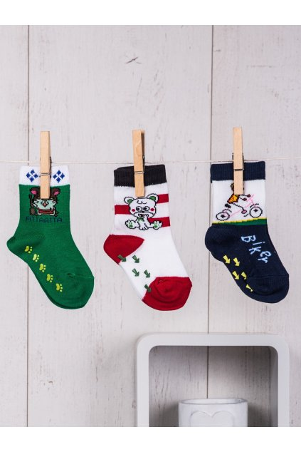 Detské ponožky kód TD-SR-019(3szt) 3ks