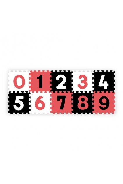 Penové puzzle 30x30 cm 10 ks Baby Ono čísla