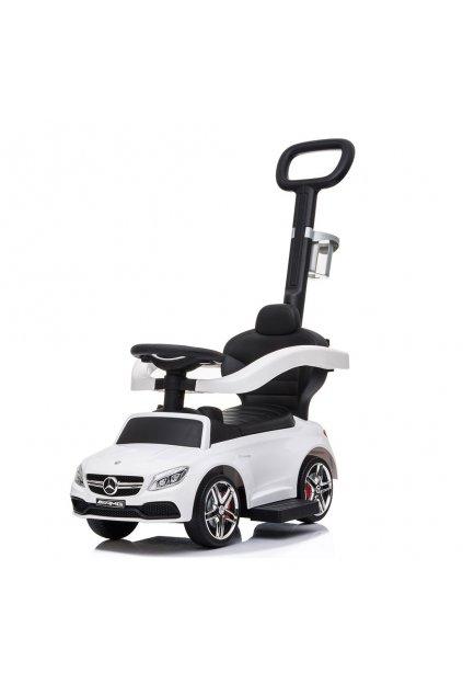 Detské odrážadlo s vodiacou tyčou Mercedes Benz AMG C63 Coupe Baby Mix biele