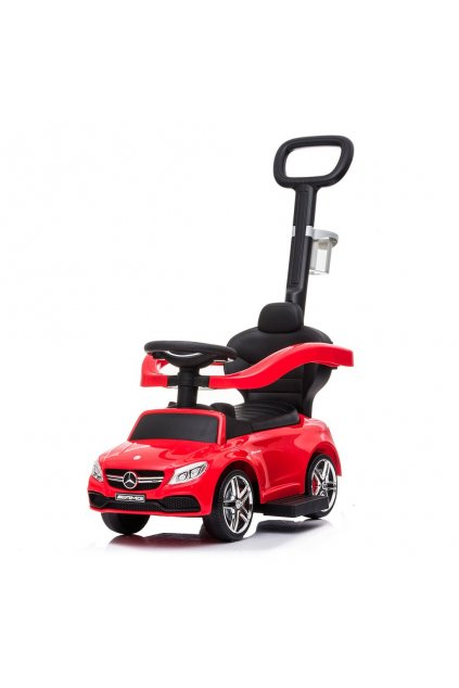 Detské odrážadlo s vodiacou tyčou Mercedes Benz AMG C63 Coupe Baby Mix červené