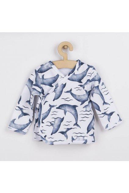 Dojčenská bavlněná košilka Nicol Dolphin