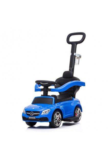 Detské odrážadlo s vodiacou tyčou Mercedes Benz AMG C63 Coupe Baby Mix modré