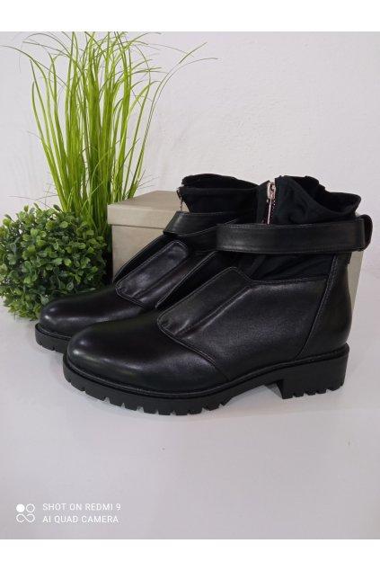 Čierne členkové topánky NJSK NC959