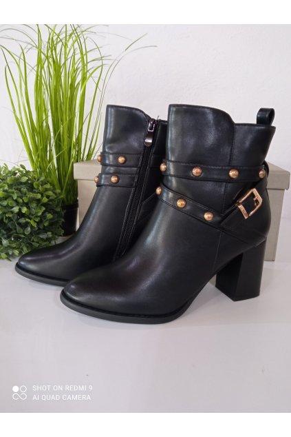 Čierne topánky NJSK 7968-GA