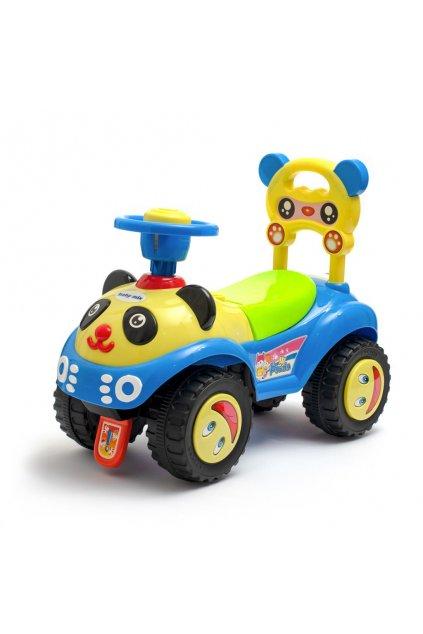 Detské odrážadlo so zvukom Baby Mix Panda modré
