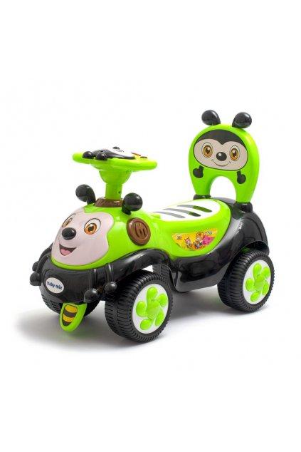 Detské odrážadlo so zvukom Baby Mix Happy Bee zelené
