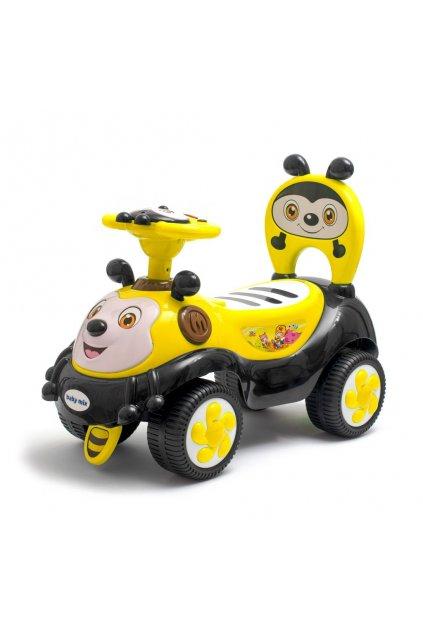 Detské odrážadlo so zvukom Baby Mix Happy Bee žlté
