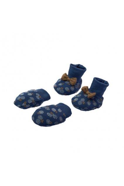 Dojčenský bavlnený set-capačky a rukavičky Nicol Sonia