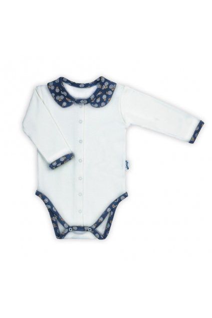 Dojčenské bavlnené celorozopínacie body Nicol Sonia