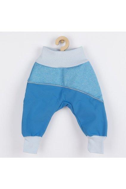 Softshellové dojčenské nohavice modré