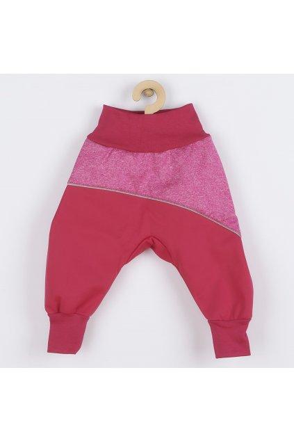 Softshellové dojčenské nohavice ružové