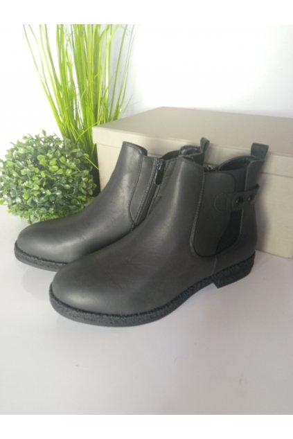 Čierne topánky NJSK 2026B