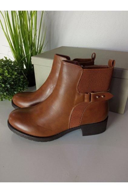 Hnedé topánky NJSK MDM226