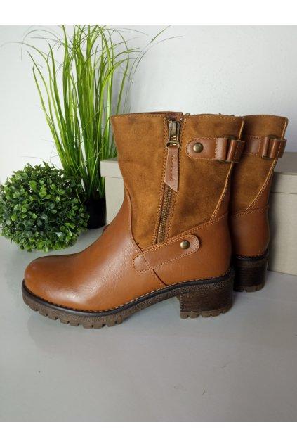 Hnedé topánky NJSK 177