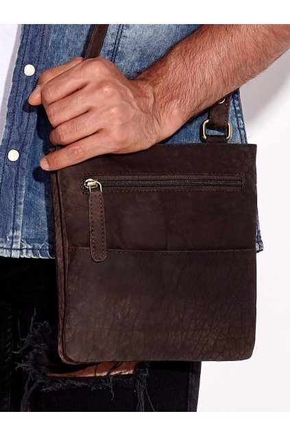 Pánska kabelka tmavo-hnedá kód CE-TR-108-CBH.15