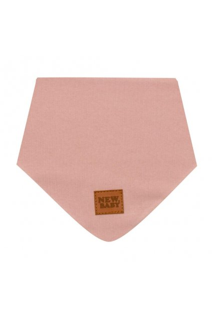 Dojčenská bavlnená šatka na krk New Baby Favorite ružová S