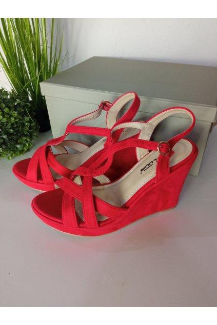 Červené sandále NJSK ZJ-72