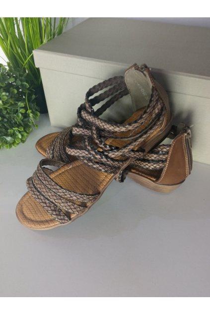 Hnedé sandále NJSK R13-D-S-63-BR