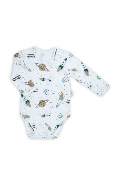 Dojčenské bavlnené body s dlhým rukávom Nicol Star