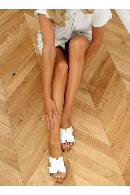 Damske šľapky biele SL1525