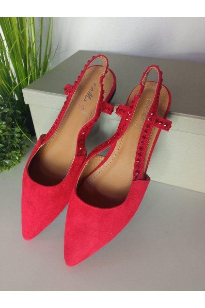 Červené baleríny NJSK YJ335-8