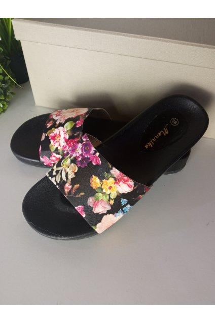 Čierne sandále NJSK WL1392