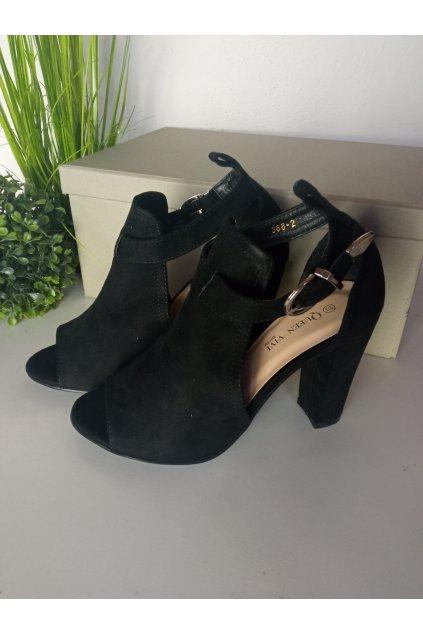 Čierne sandále NJSK 368-2B