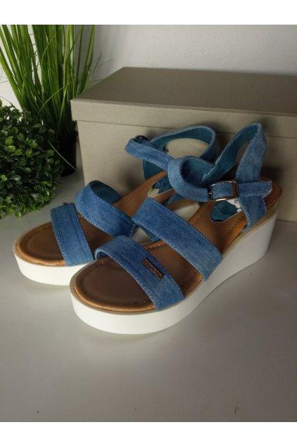 Modré sandále NJSK 6100-12L.BL