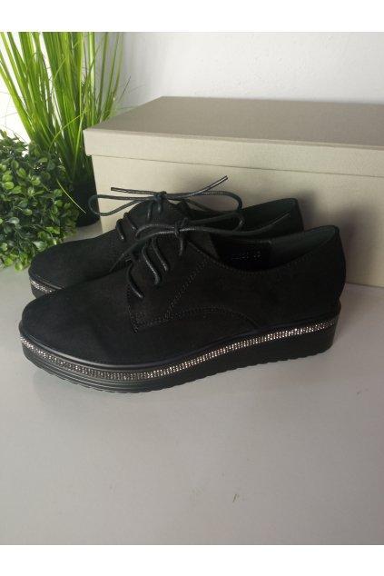 Čierne topánky NJSK 66-227B