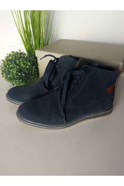 Pánske modré topánky NJSK ML16272N