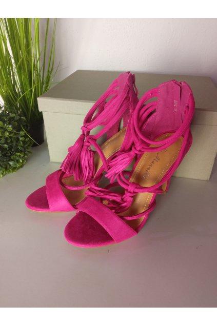 Fialové sandále NJSK 2959F