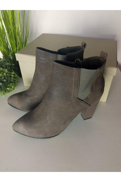 Hnedé topánky NJSK A817-5G/S2-121P