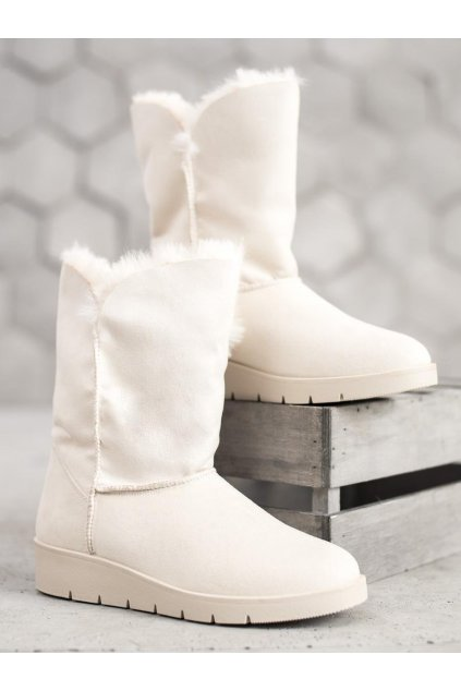 Biele dámske snehule Kylie kod K1838406HI