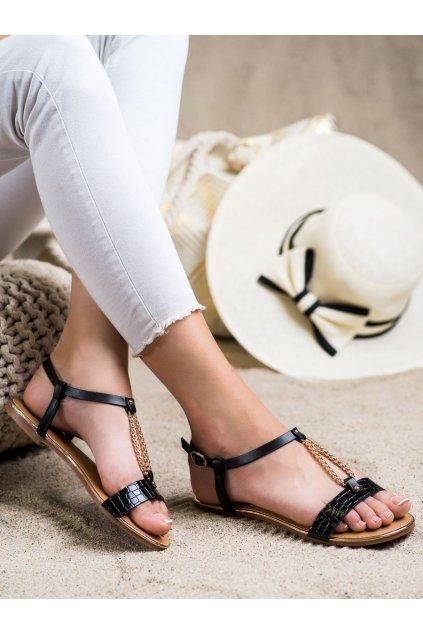 Čierne dámske sandále Laura mode kod F-18B