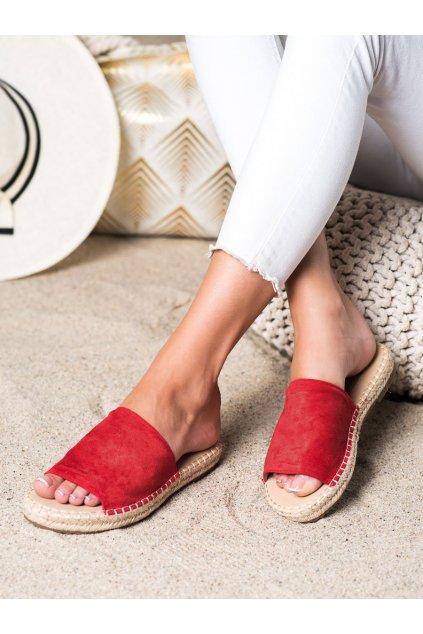 Červené dámske šľapky Shelovet kod LX203R