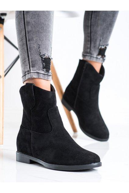 Čierne dámske topánky J. star kod A8302/A-B