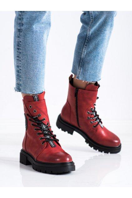 Červené dámske topánky Evento kod 21BT35-4263R