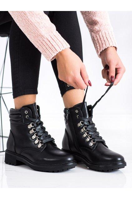 Čierne dámske topánky Cm paris kod Y8238B