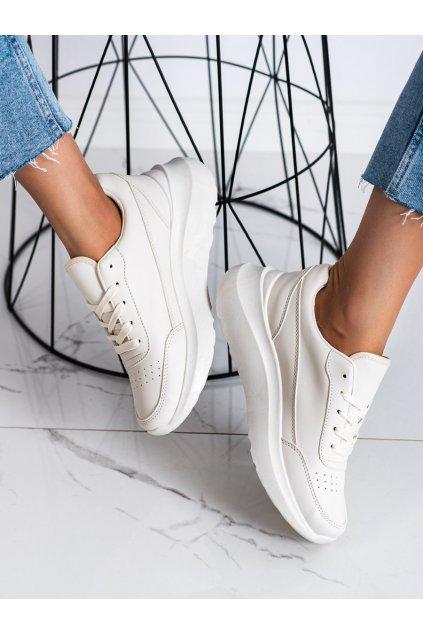 Hnedé dámske tenisky Ideal shoes kod 2029BE