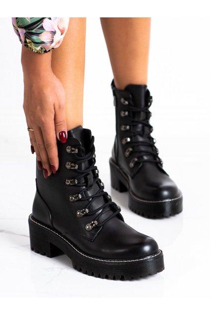 Čierne dámske topánky Janessa kod KL-785B